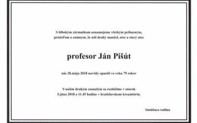 Zomrel bývalý minister J. Pišút, naštartoval vznik neštátneho školstva
