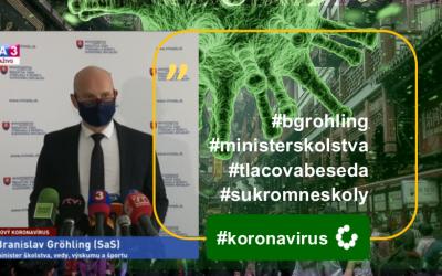Minister B. Gröhling k situácii súkromných zriaďovateľov