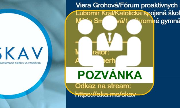 SKAV: Online debaty o výzvach a príležitostiach v školskom roku 2020/2021